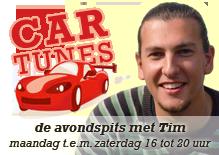 CarTunes - de avondspits door met Tim - maandag t.e.m. zaterdag 16 tot 20 uur